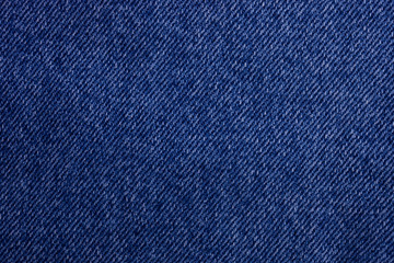 Blue jeans texture as background. Top view