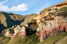 Red Cliffs Of Golden Gate National Park In The Drakensberg Mountains