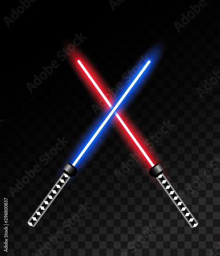 Laser light sword. Vector illustration Wallpaper Mural