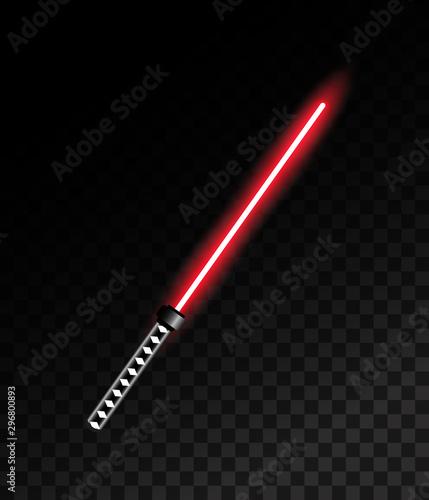 Photo Laser light sword. Vector illustration