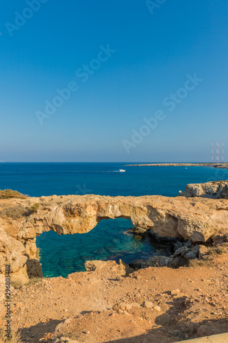 Obraz na plátně  A typical view at Cape Greco in Cyprus