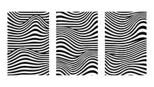 Black And White Vector Wave Li...