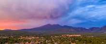 Mount Humphreys At Sunset Overlooks The Area Around Flagstaff Arizona