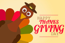 Funny Thanksgiving Illustration