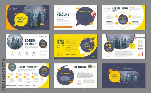 Fotomural  Abstract Presentation Templates, Infographic elements Template design set