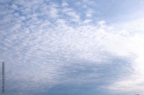 Vászonkép Blue sky and white cirrus clouds