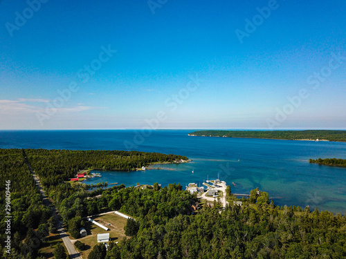 aerial view of Washington Island Wisconsin
