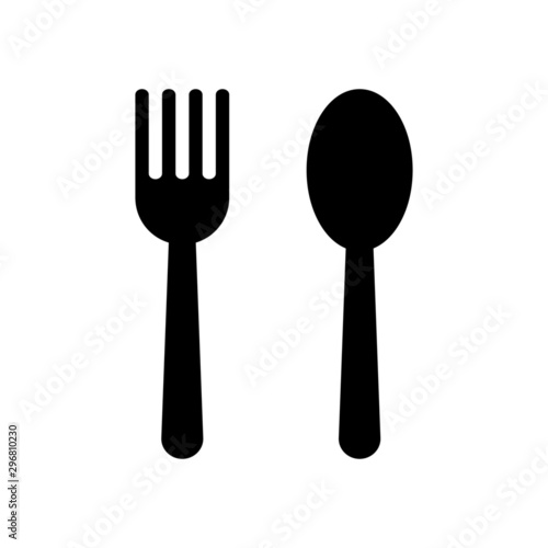 Obraz na plátně fork and spoon restaurant icon isolated on white background