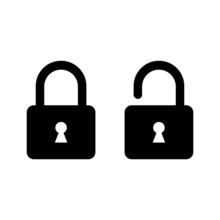 Padlock Icon. Lock And Unlock ...