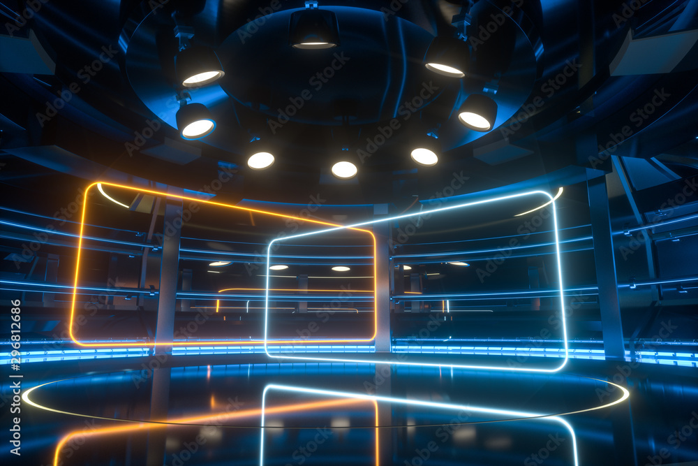 Fototapety, obrazy: Circular technological structure building, 3d rendering.