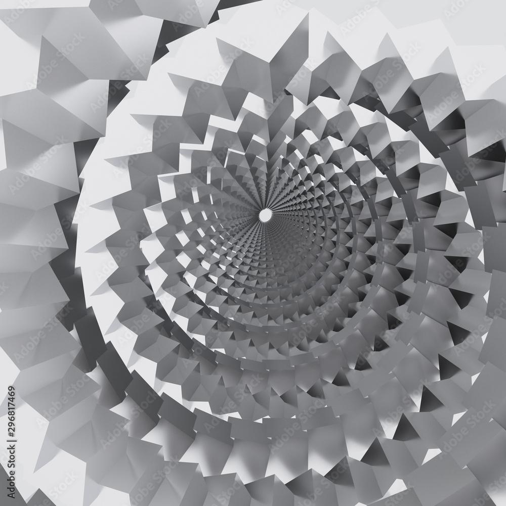 Abstract white spiral tunnel <span>plik: #296817469 | autor: panafoto</span>