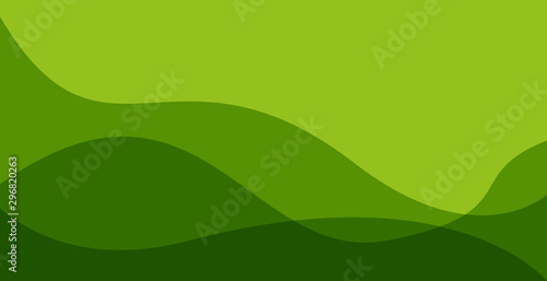 simple green wavy background