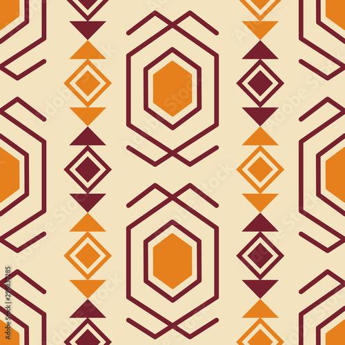 Foto auf AluDibond Boho-Stil Tribal southwestern native american navajo seamless pattern