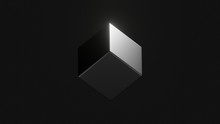 Black Cube On Isometric View I...