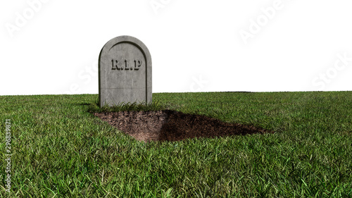 RIP Stone Grave Tomb Canvas Print