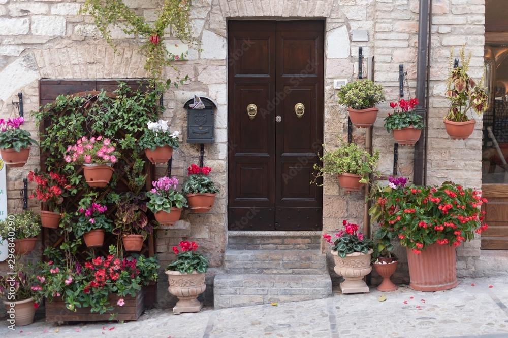 Fototapety, obrazy: Tra i vicoli di Spello - Perugia - Umbria - Italia