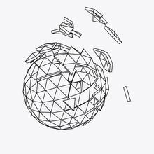 Abstract 3d Broken Sphere. Vec...