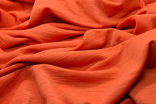 This Is A Photograph Of Textured Neon Orange Fabric Background