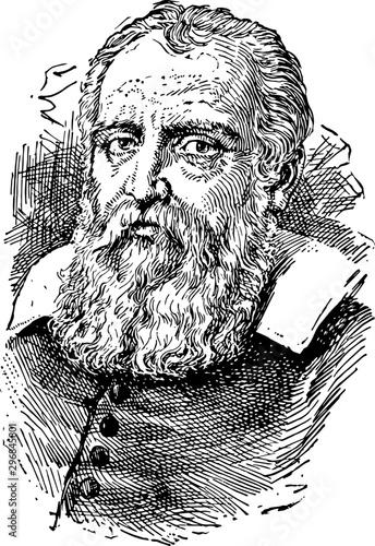 Photo Galileo Galilei vintage illustration