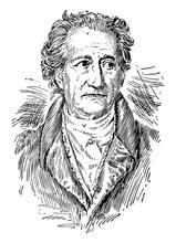 Johann Wolfgang Von Goethe Vintage Illustration.