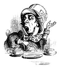 Alice In Wonderland Vintage Illustration