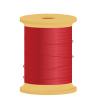 Vector Illustration Of A Spool...