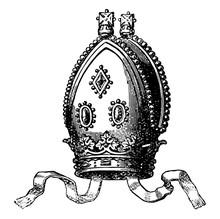 A Modern Archbishop Vintage Engraving.