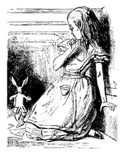 Alice Watches The White Rabbit...