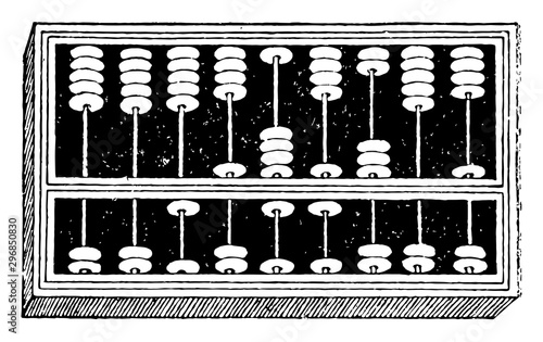 Photo Abacus vintage illustration.