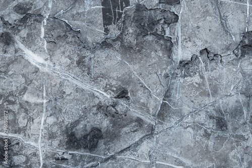 Poster Cailloux Black grey marble pattern, cement wall texture background
