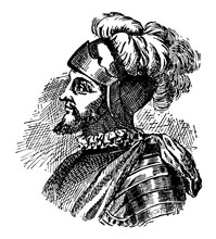 Vasco Nunez De Balboa Vintage Illustration