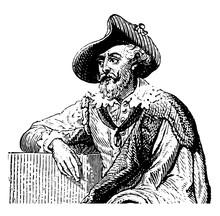 Peter Paul Rubens Vintage Illustration.