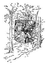 Little Red Riding Hood Vintage Illustration