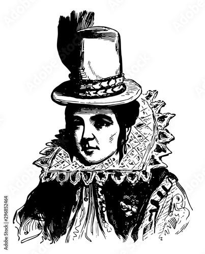 Pocahontas vintage illustration фототапет