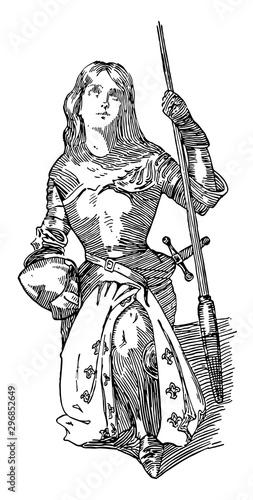 Photo Joan of Arc vintage illustration