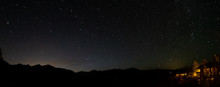 Shooting Star Over Cabin In Th...