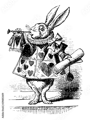 Photo Alice in Wonderland vintage illustration