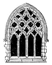 Small Gothic Window Tracery, D...
