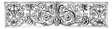 Banner Is A Contains Floral Arrangements In This Pattern Vintage Engraving.