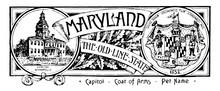 The State Banner Of Maryland T...
