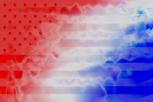 An Abstract American Flag Impr...