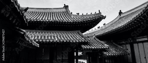 Pinturas sobre lienzo  Korean Traditional Palace Changgyeonggung, Traditional Building, Monochrome phot