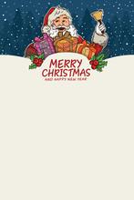 Santa Claus Illustration For Christmas Background