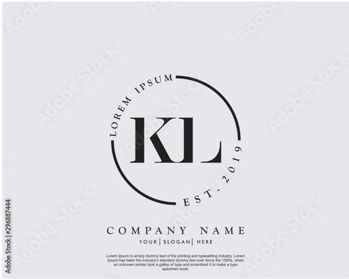 Initial letter KL beauty handwriting logo vector Fototapete