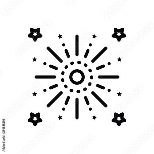 Fotomural Black line icon for celebrate