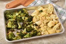 Roasted Cauliflower And Broccoli
