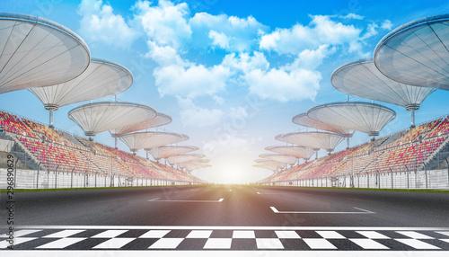 empty road track scene background