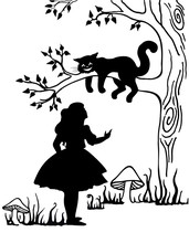 Alice And Cheshire Cat. Lewis ...