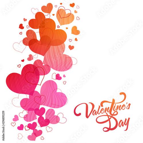 Fototapeta Greeting Card for Valentine's Day celebration. obraz na płótnie