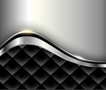 Silver Black Background 3d